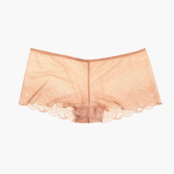 b46a104a8cb Madewell Lace Boyshort in Voile Pink